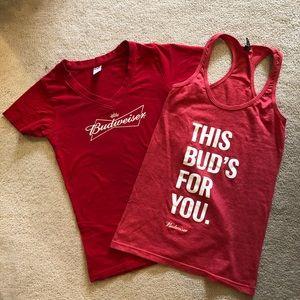 Budweiser t-shirt & tank top, small.